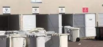 Armazenamento temporário de resíduos hospitalares